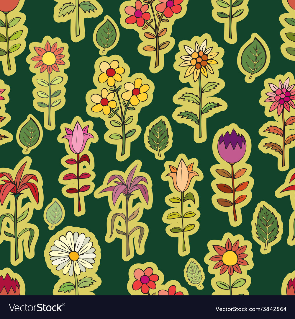 Various summer flowers vector | Price: 1 Credit (USD $1)