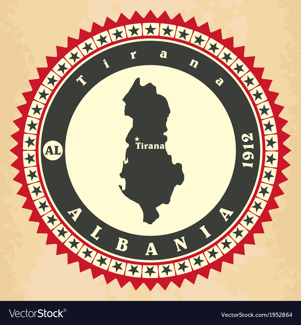 Vintage label-sticker cards of albania vector | Price: 1 Credit (USD $1)