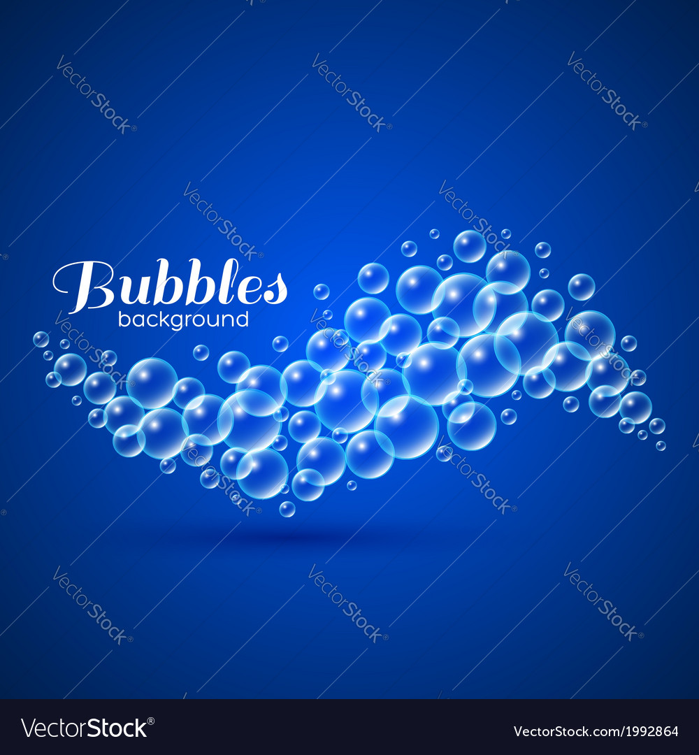 Wave of air bubbles vector | Price: 1 Credit (USD $1)
