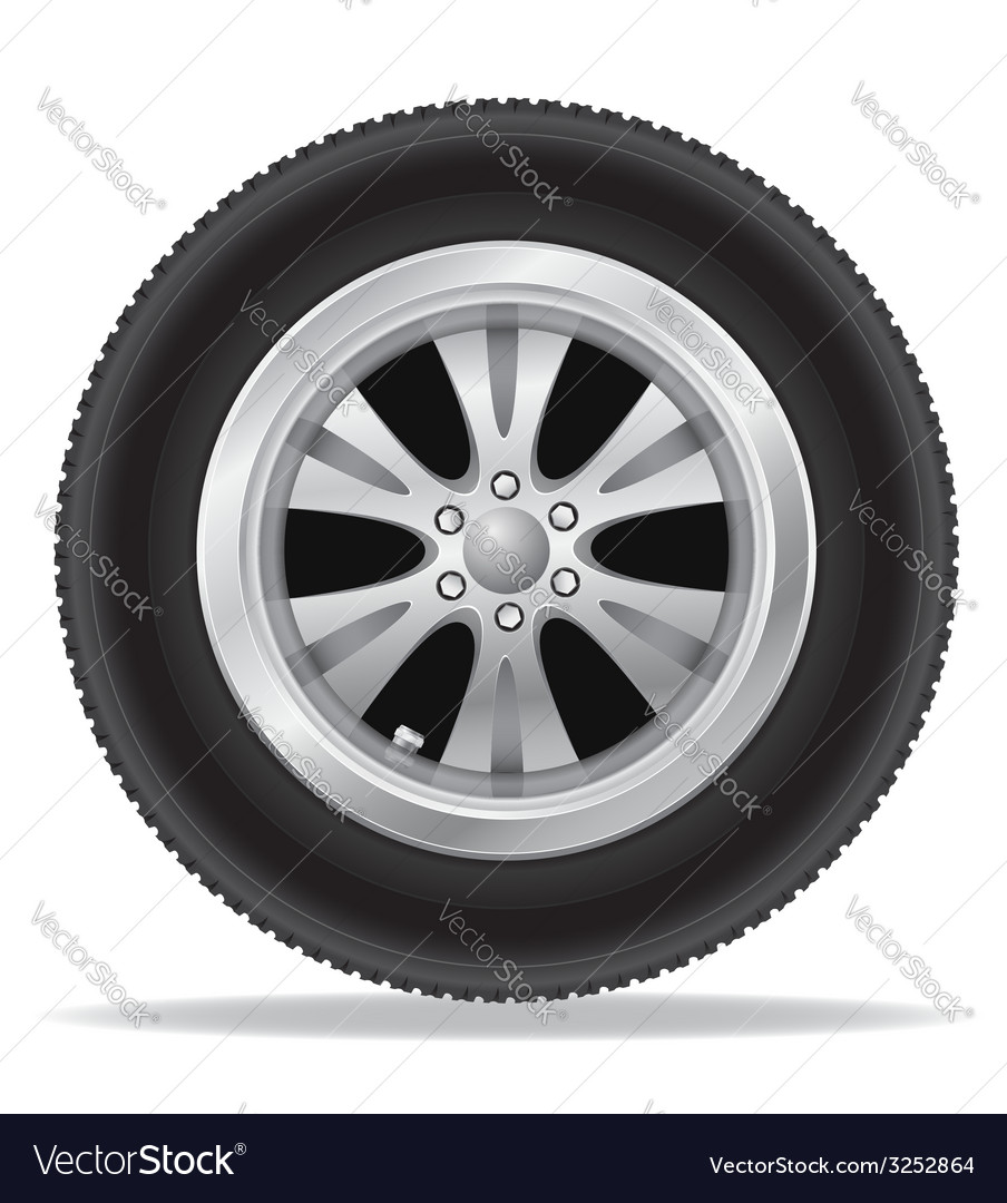 Wheel for car 01 vector | Price: 1 Credit (USD $1)