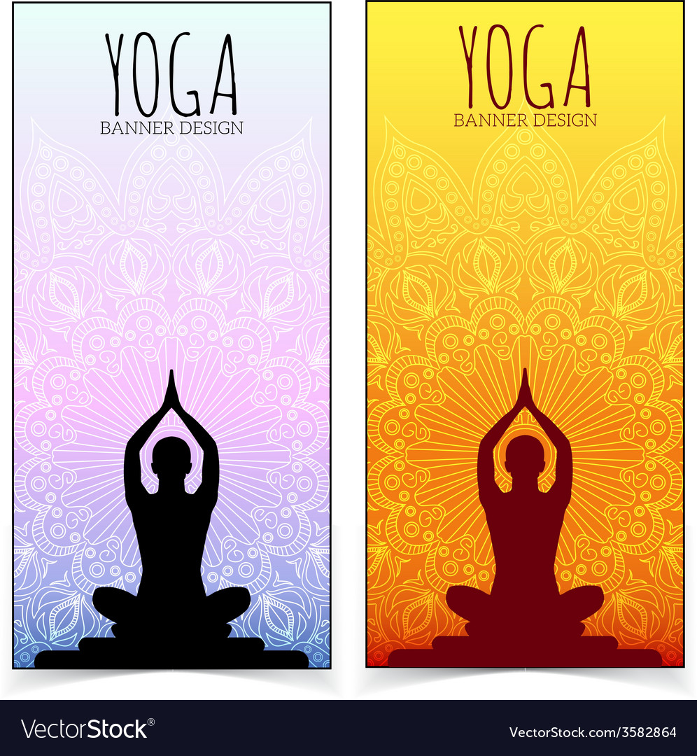 Yoga banner collection vector | Price: 1 Credit (USD $1)