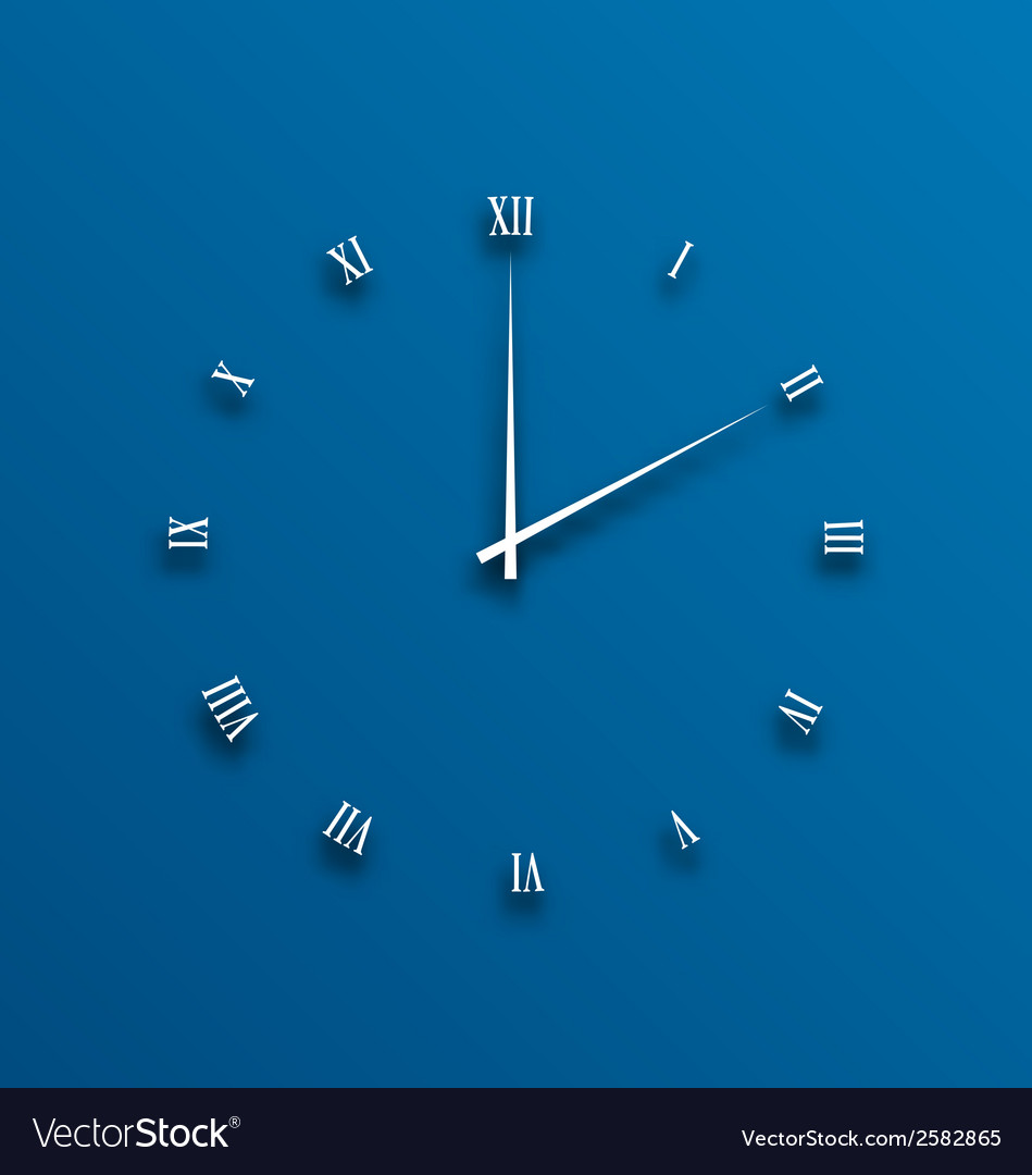 Clock dial numeral with shadows vector | Price: 1 Credit (USD $1)