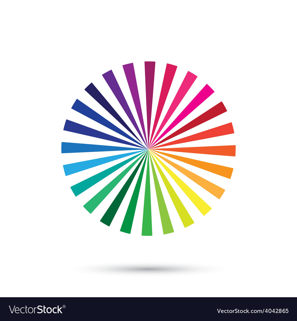 Color palette color spectrum isolated on vector | Price: 1 Credit (USD $1)