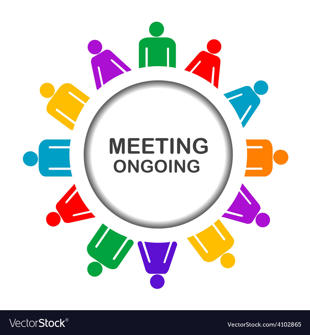 Colorful meeting ongoing icon vector | Price: 1 Credit (USD $1)
