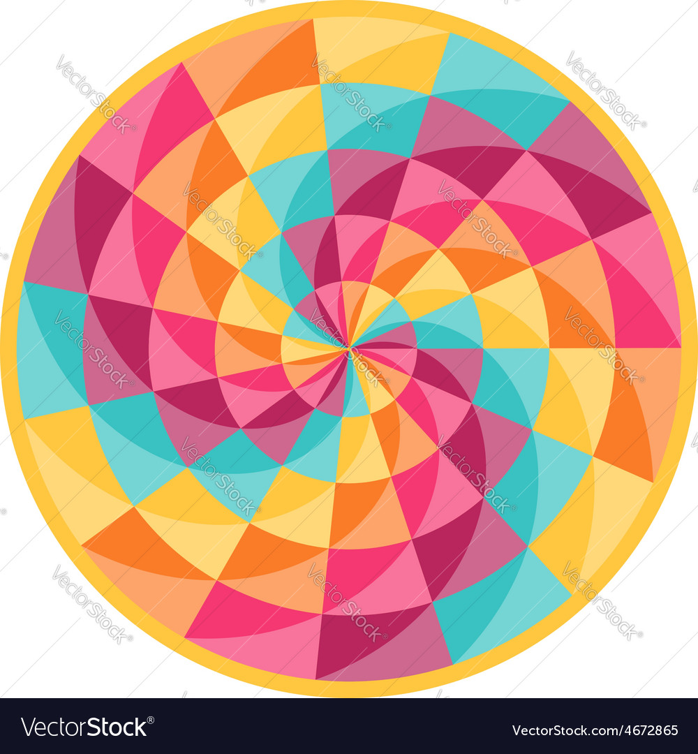 Fortune wheel with abstract geometric pattern vector | Price: 1 Credit (USD $1)