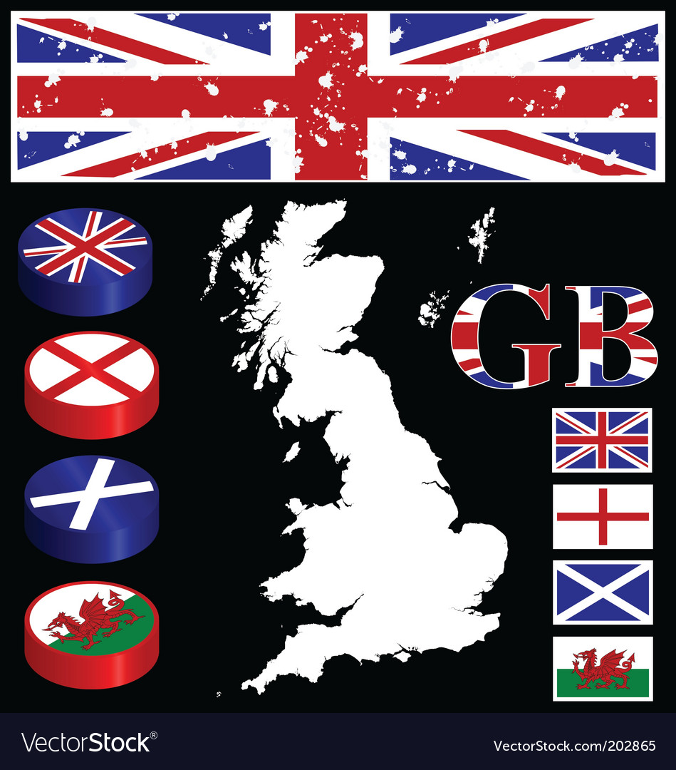 Great britain collection vector | Price: 1 Credit (USD $1)