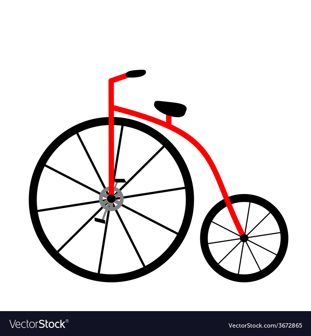 Pennyfarthing icon vector