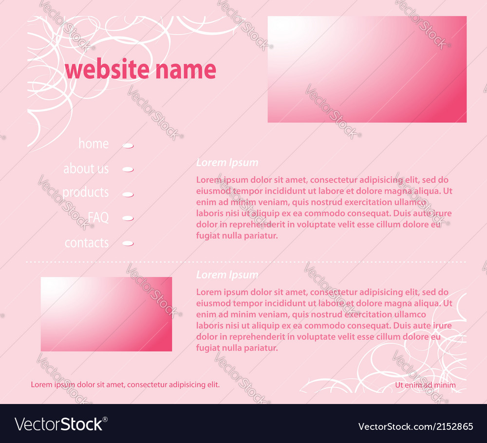 Pink website - template layered vector | Price: 1 Credit (USD $1)
