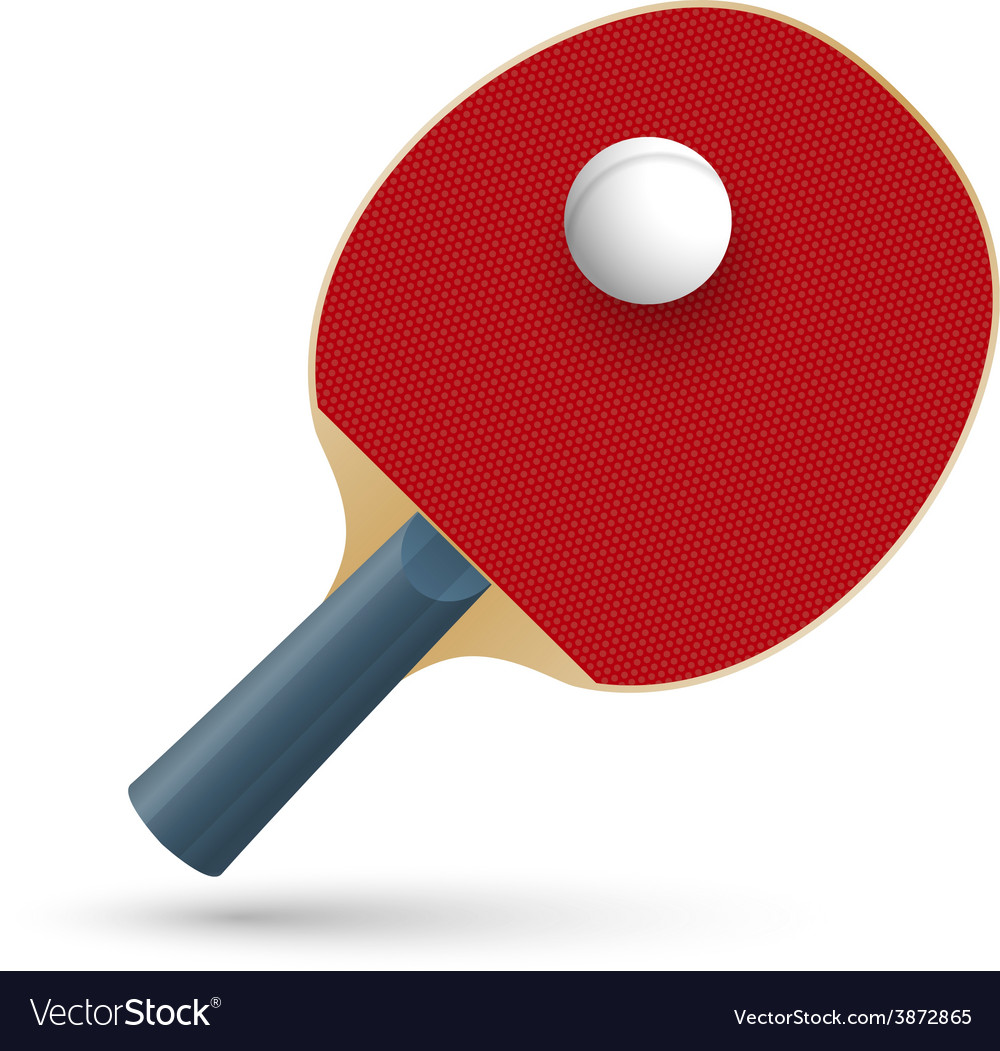Racket for playing table tennis vector | Price: 1 Credit (USD $1)