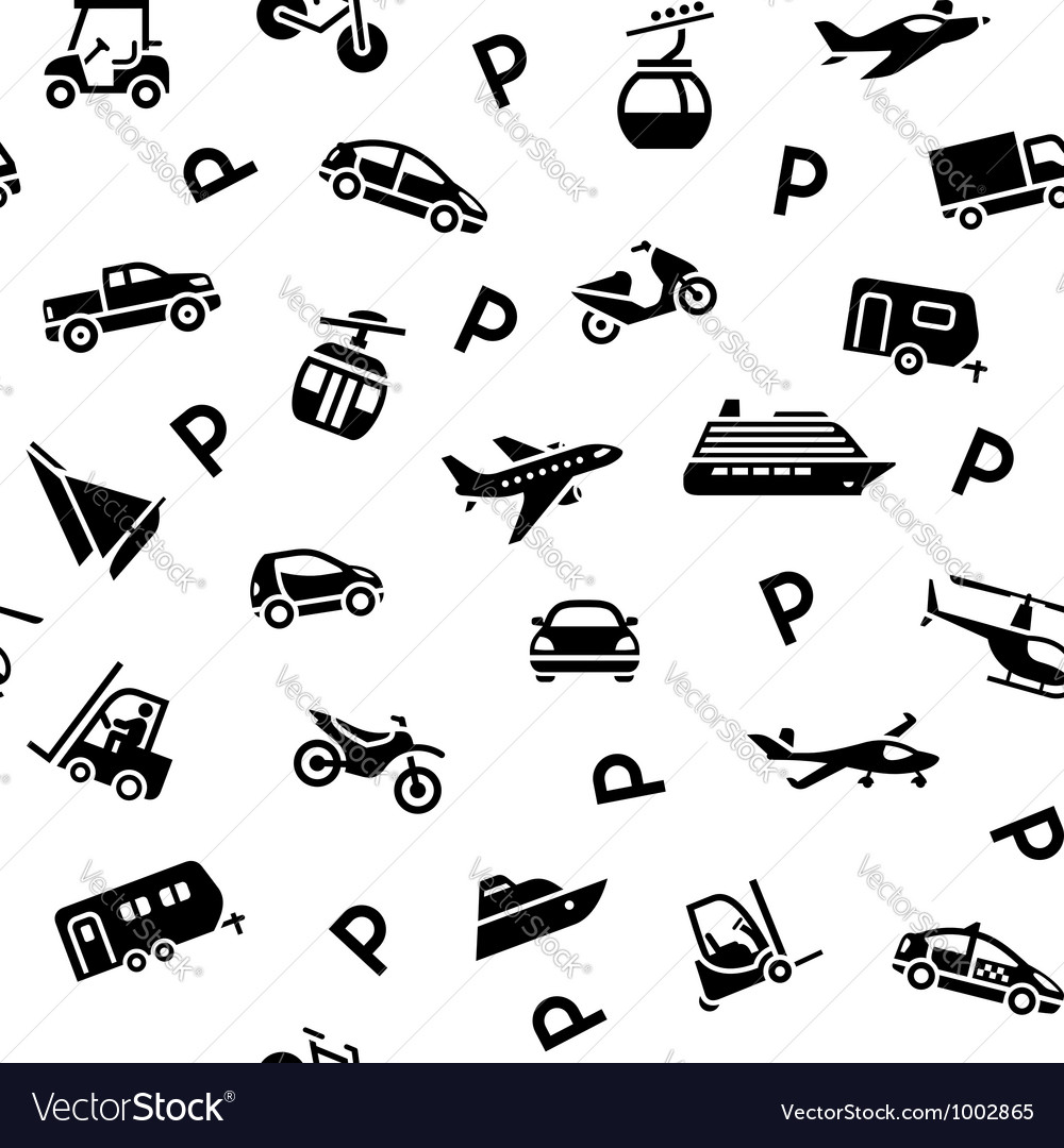 Seamless backdrop transport icons wrapping paper vector | Price: 1 Credit (USD $1)