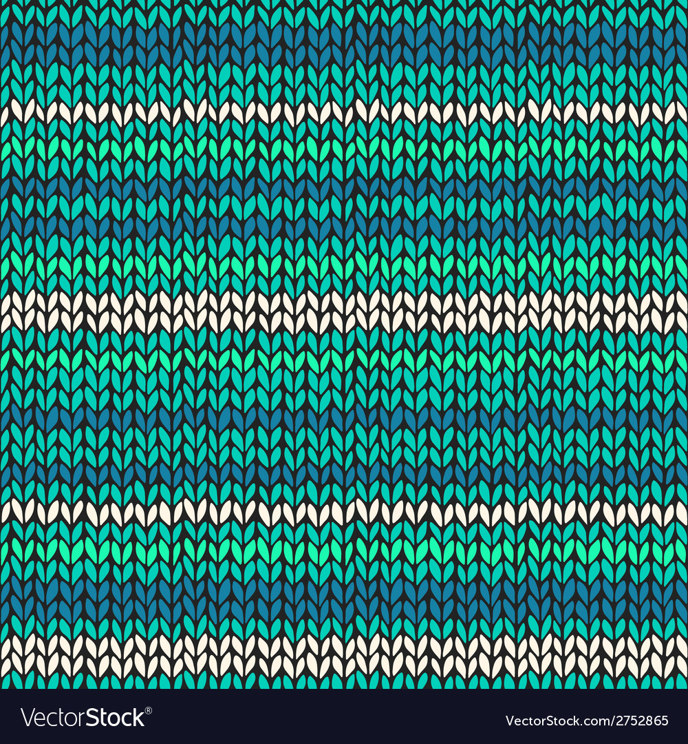 Seamless pattern with colorful knitted stripes vector | Price: 1 Credit (USD $1)