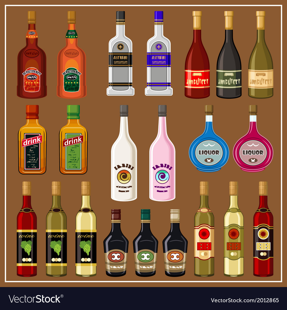 Set alcoholic beverages vector | Price: 3 Credit (USD $3)