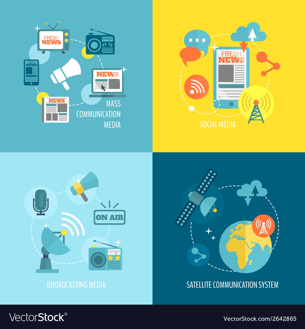 Set of media composition vector | Price: 3 Credit (USD $3)