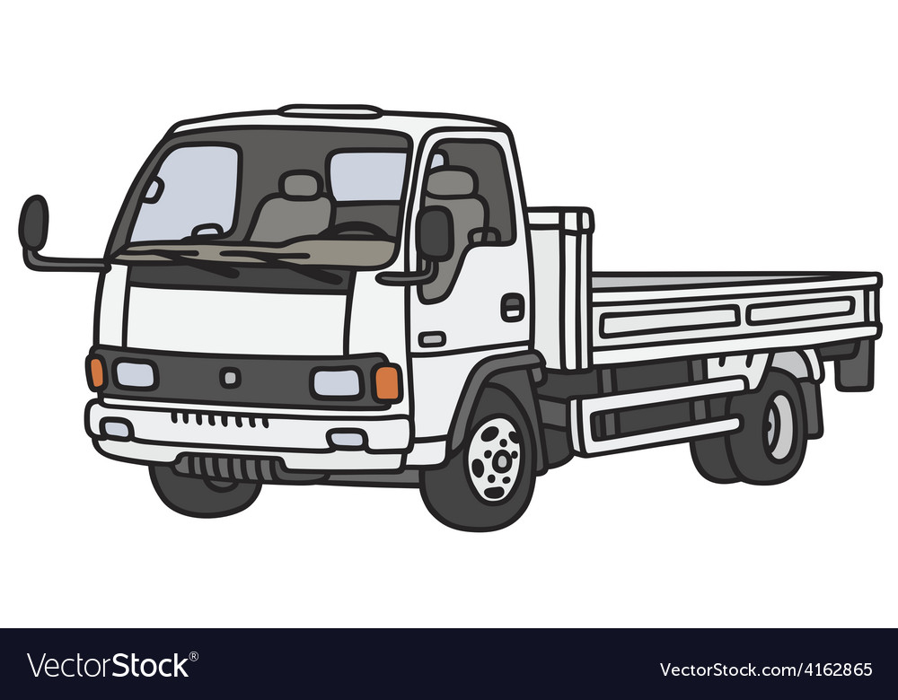 Small lorry truck vector | Price: 1 Credit (USD $1)