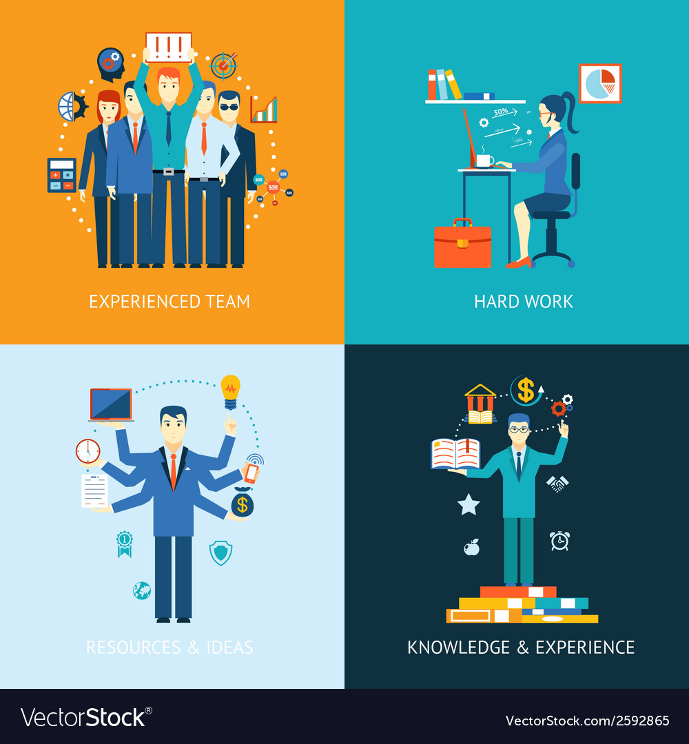Teamwork and human resources vector | Price: 1 Credit (USD $1)