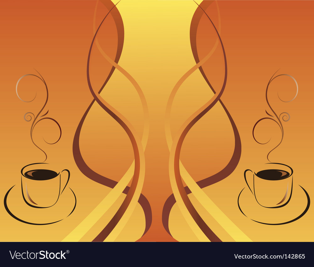 Two cups of hot coffee vector | Price: 1 Credit (USD $1)