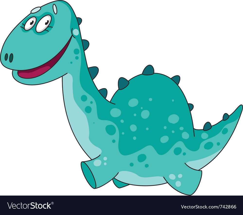 Big funny dino vector | Price: 1 Credit (USD $1)