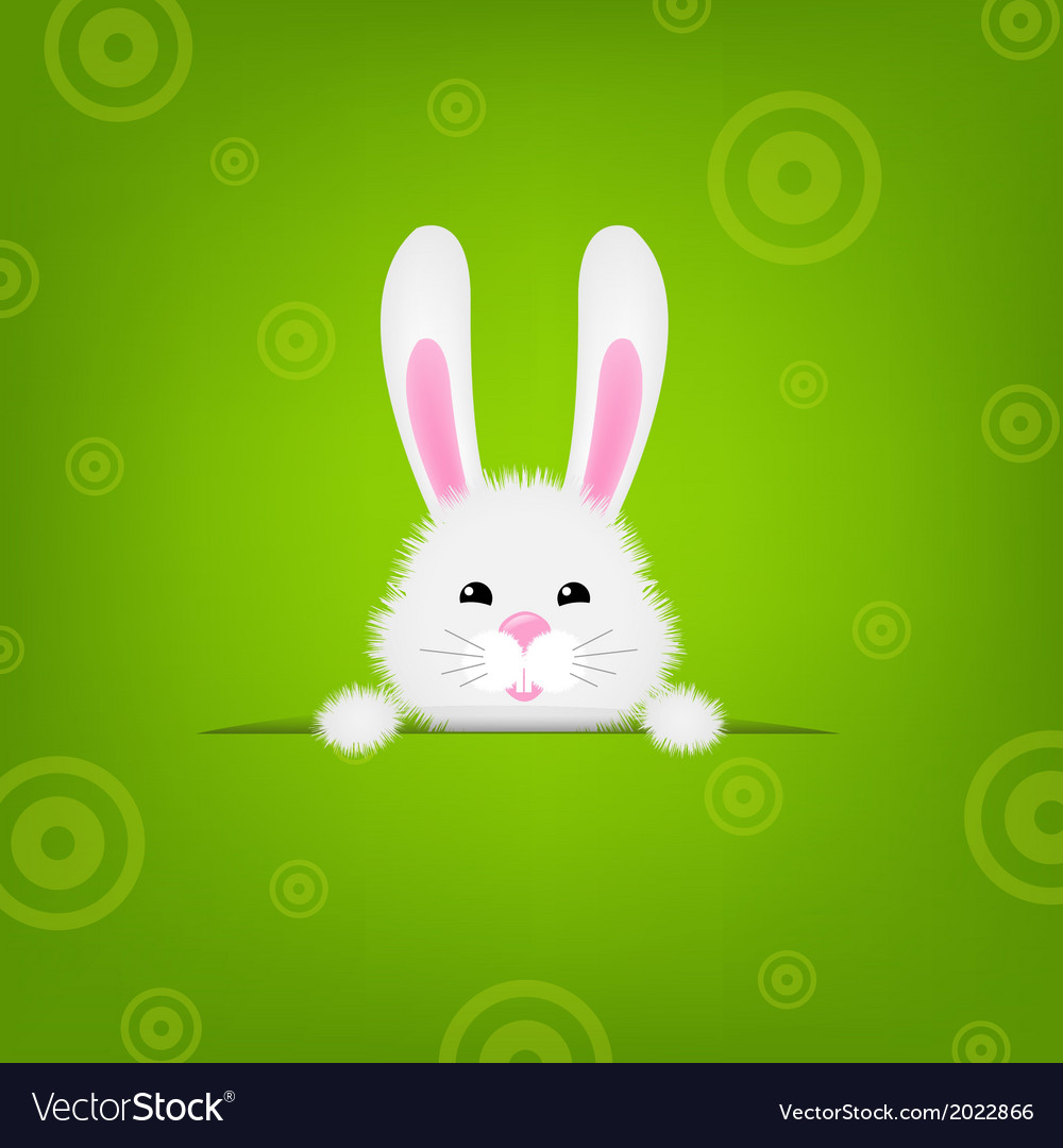 Easter banner with rabbit vector | Price: 1 Credit (USD $1)