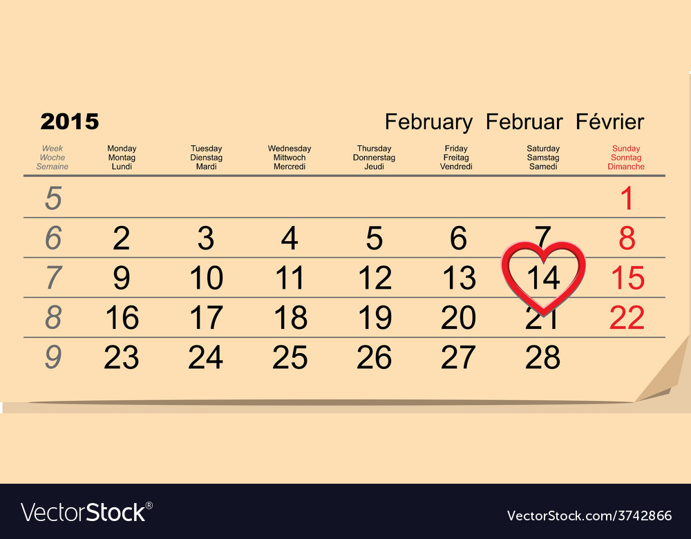 February 14 valentines day vector | Price: 1 Credit (USD $1)