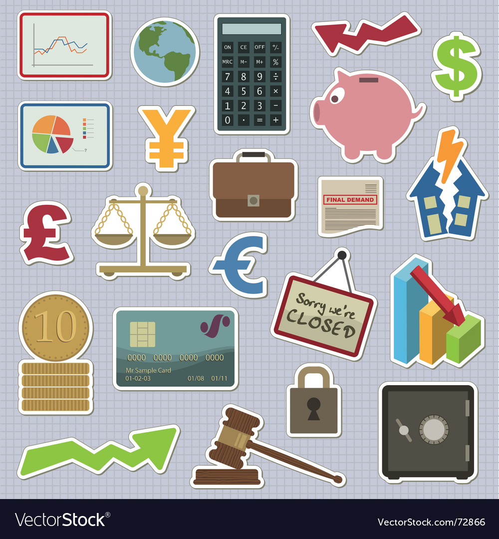 Finance stickers vector | Price: 1 Credit (USD $1)