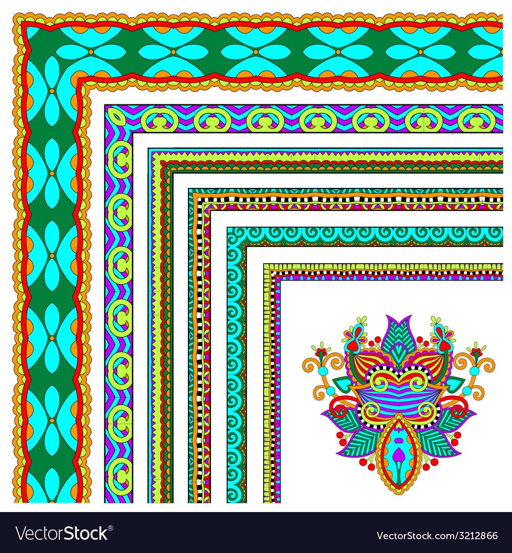 Floral vintage frame design set vector | Price: 1 Credit (USD $1)