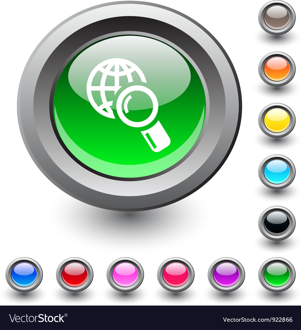 Global search round button vector | Price: 1 Credit (USD $1)