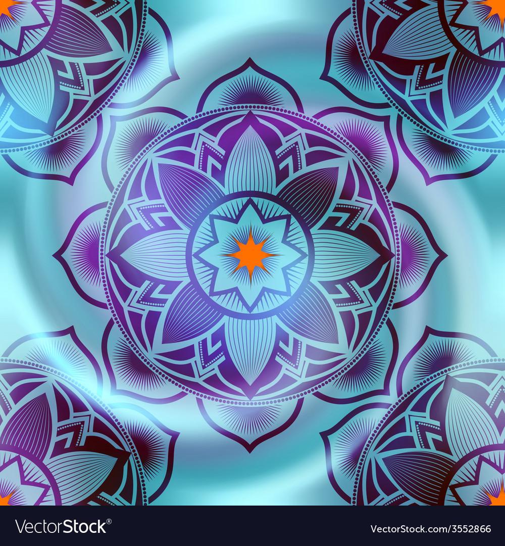 Mandala circles pattern on blur spiral background vector | Price: 1 Credit (USD $1)