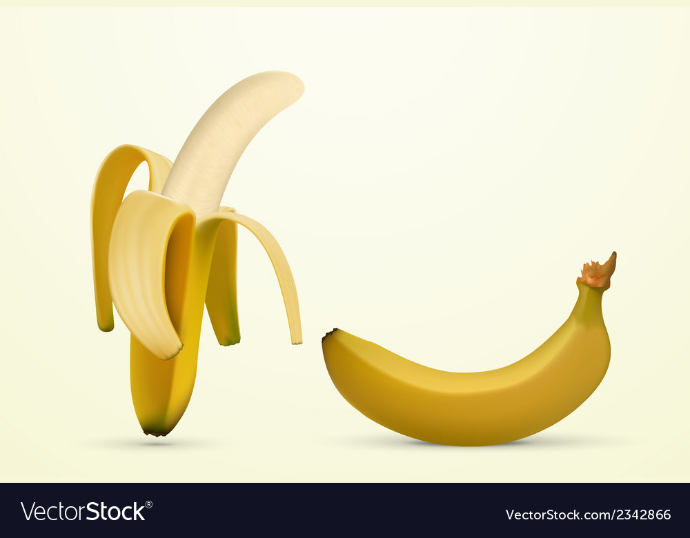 Peeled banana vector | Price: 1 Credit (USD $1)