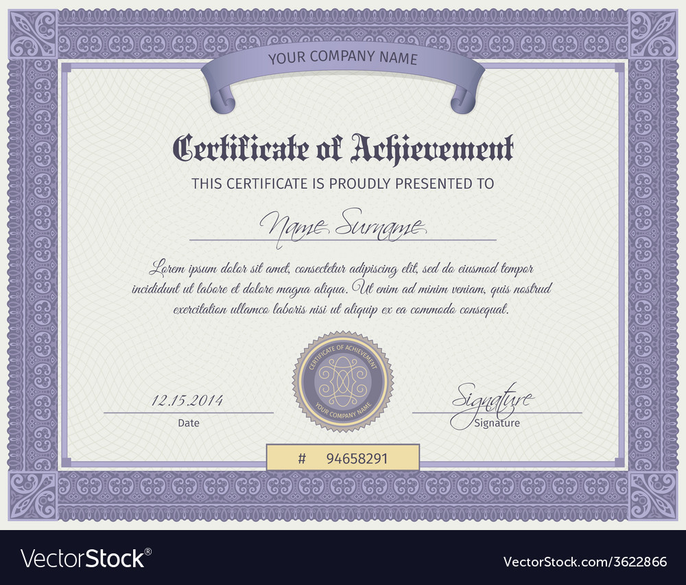 Qualification certificate template vector | Price: 1 Credit (USD $1)