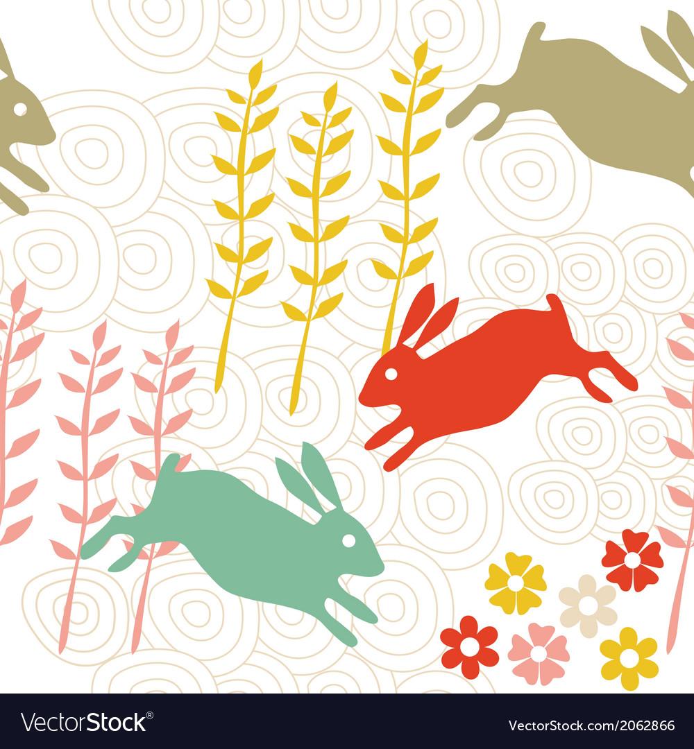Rabbit seamless texture endless vector   Price: 1 Credit (USD $1)