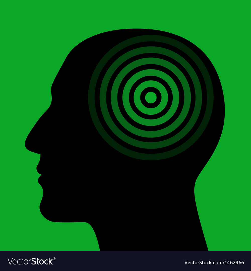Silhouette of a human head wit the target vector | Price: 1 Credit (USD $1)