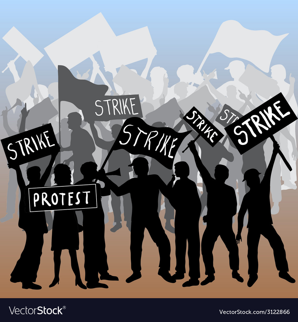 Workers strike and protest vector | Price: 1 Credit (USD $1)