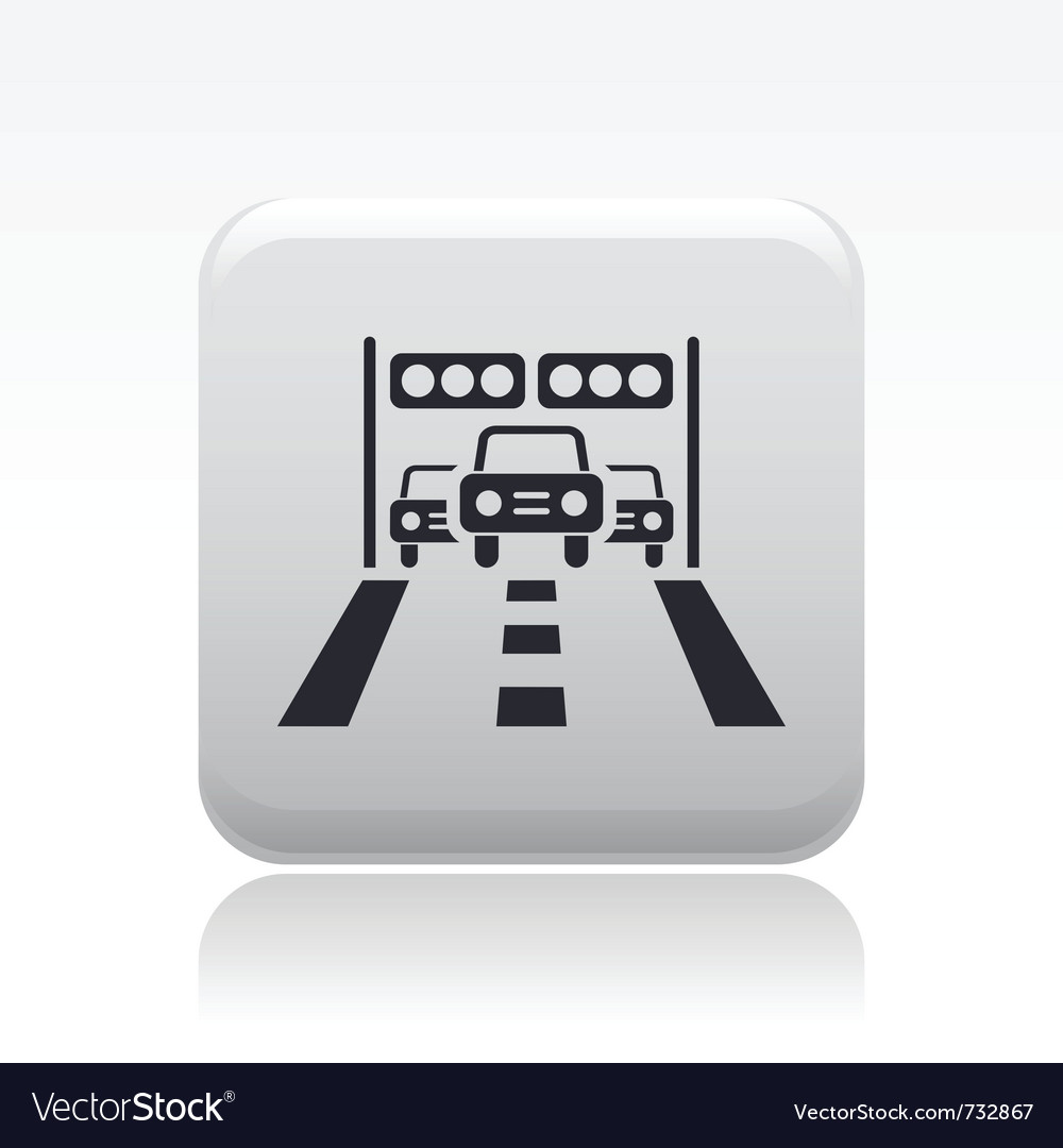 Arrival car race icon vector   Price: 1 Credit (USD $1)