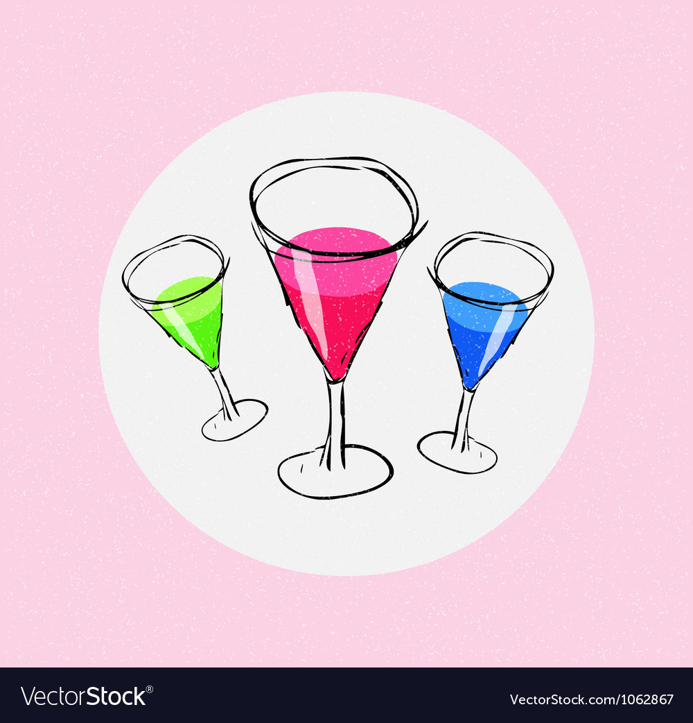 Assorted martinis vector | Price: 1 Credit (USD $1)