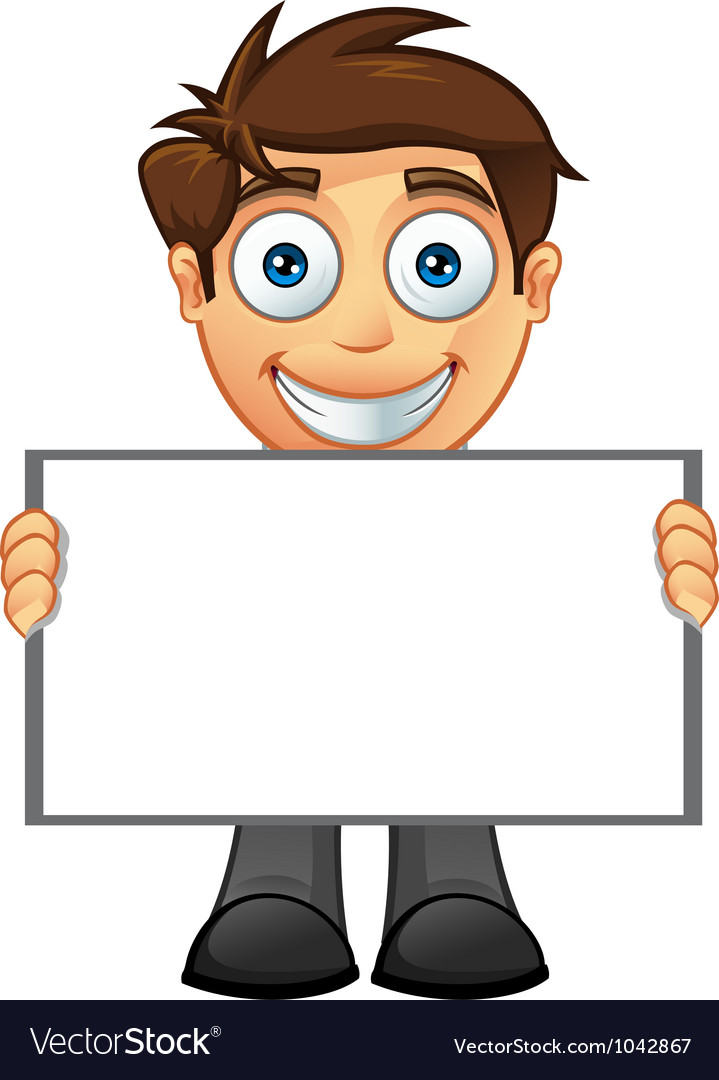 Business man blank sign 5 vector | Price: 1 Credit (USD $1)