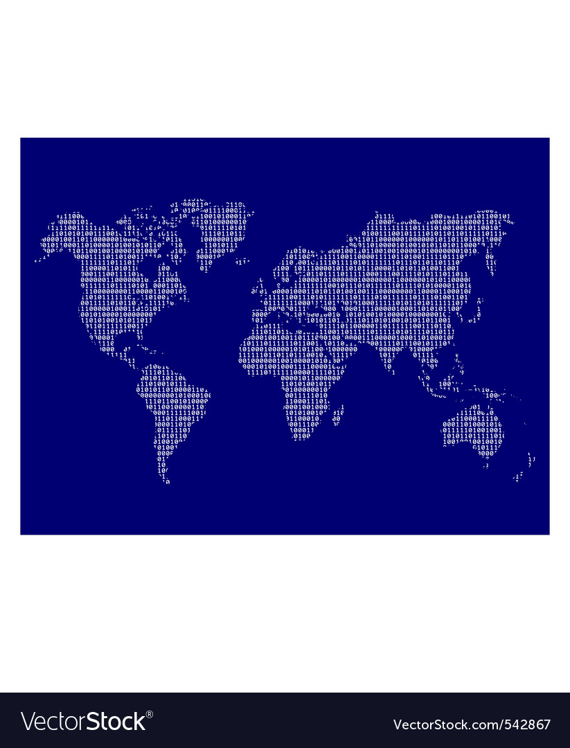 Digital world map vector | Price: 1 Credit (USD $1)