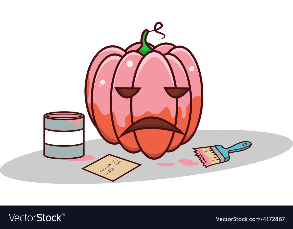 Isolated cartoon pink pumpkin for valentine vector | Price: 1 Credit (USD $1)