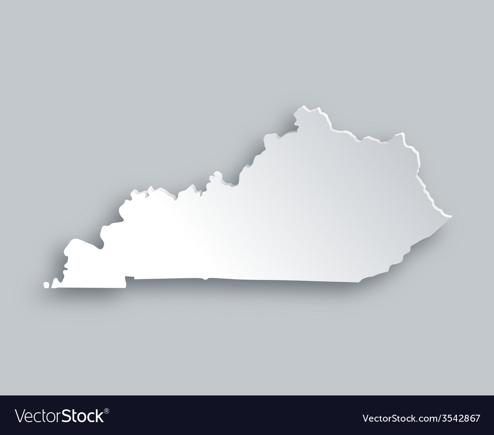 Map of kentucky vector | Price: 1 Credit (USD $1)