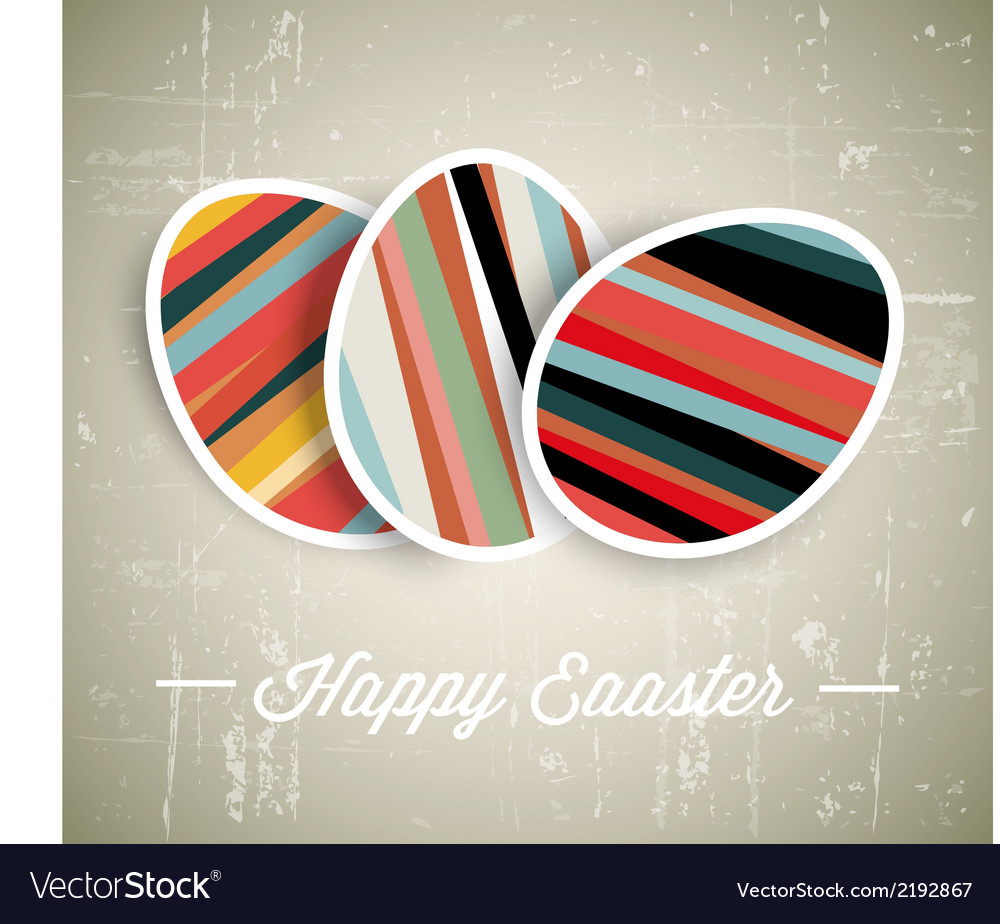 Retro paper easter egg card vector | Price: 1 Credit (USD $1)
