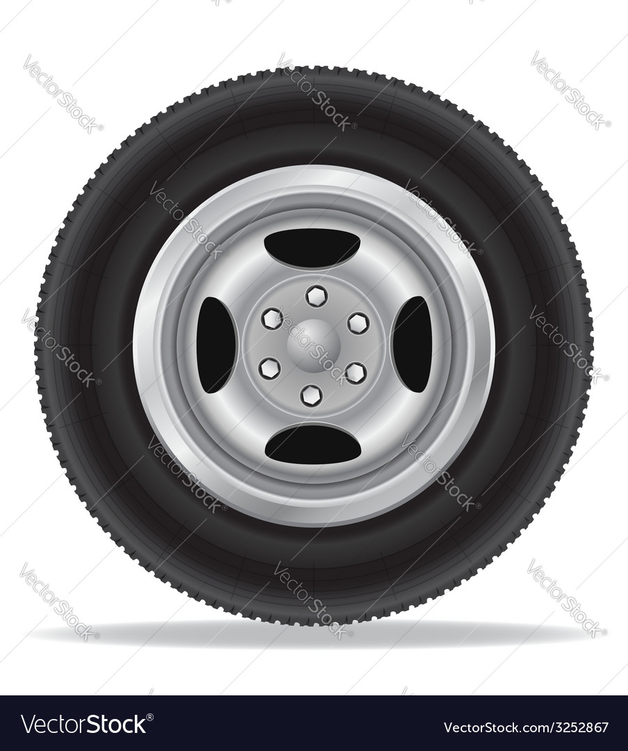 Wheel for car 02 vector | Price: 1 Credit (USD $1)