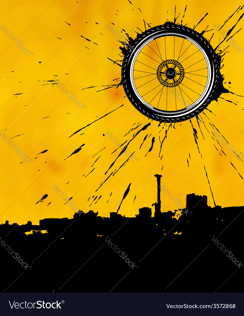 Bike wheel as the sun vector | Price: 1 Credit (USD $1)