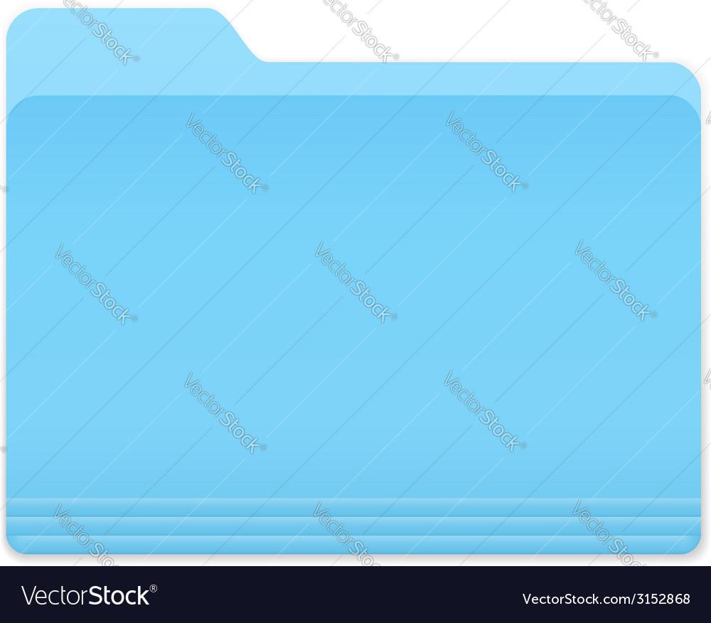 Blue folder icon vector | Price: 1 Credit (USD $1)