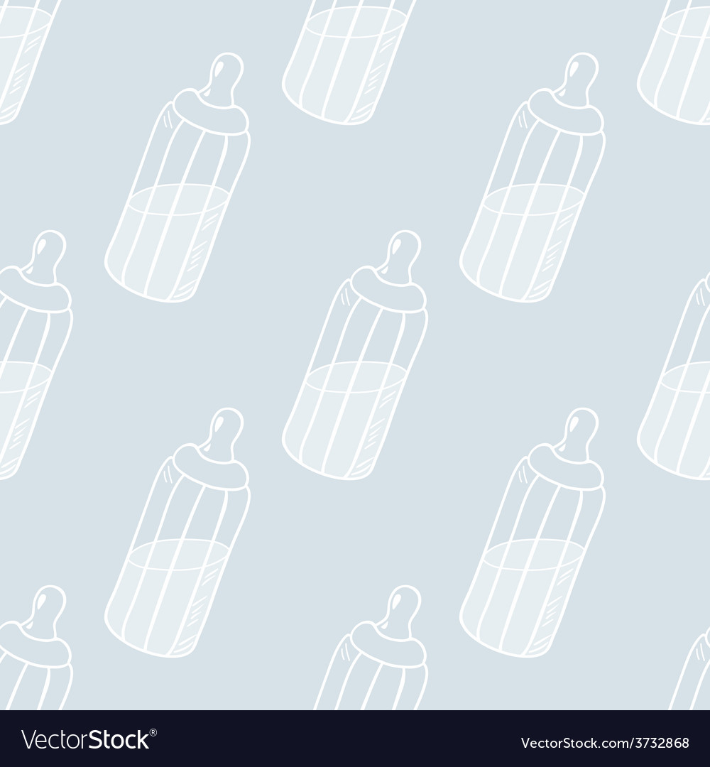 Bottle of milk seamless pattern vector | Price: 1 Credit (USD $1)