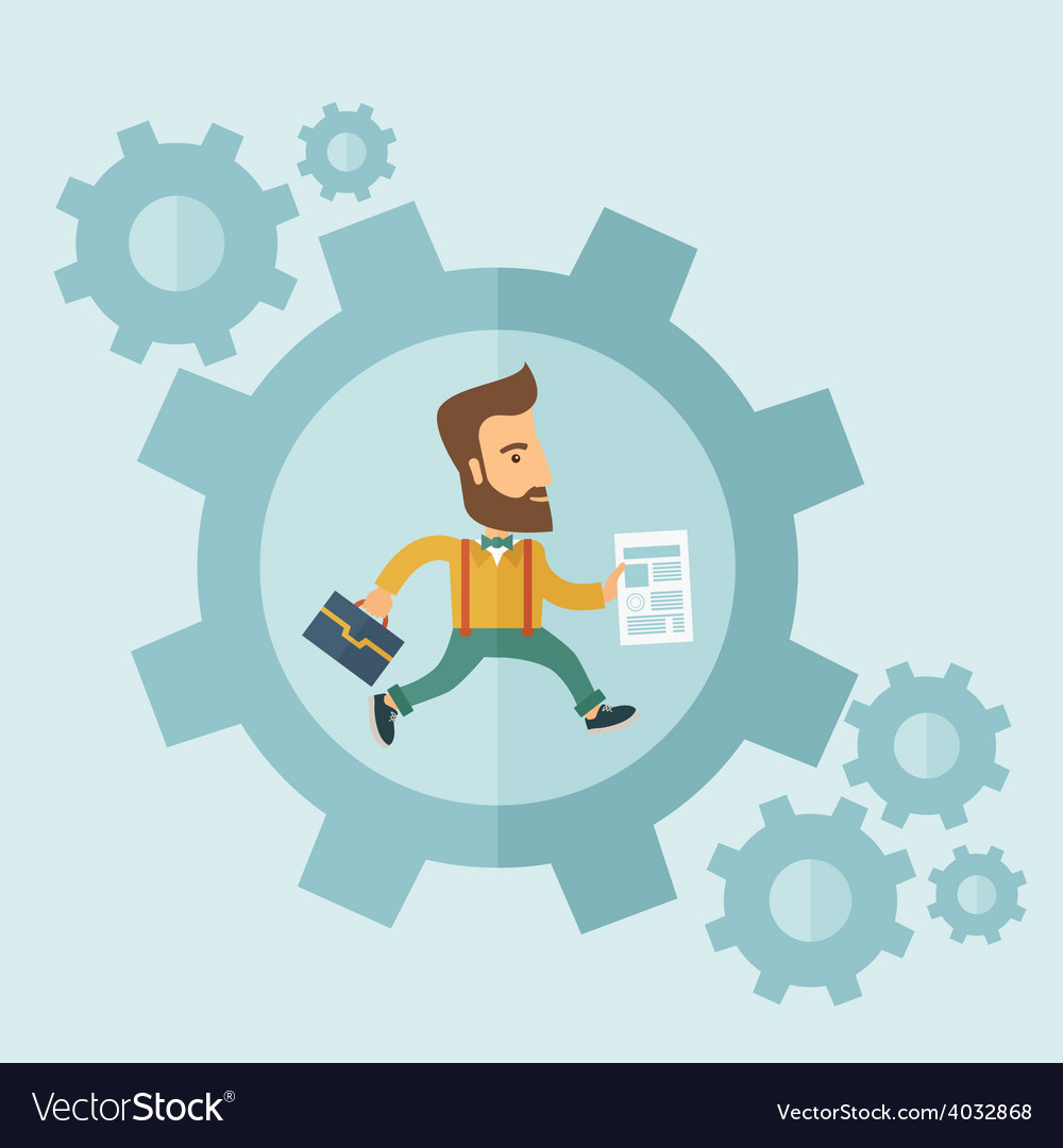 Business in action vector   Price: 1 Credit (USD $1)