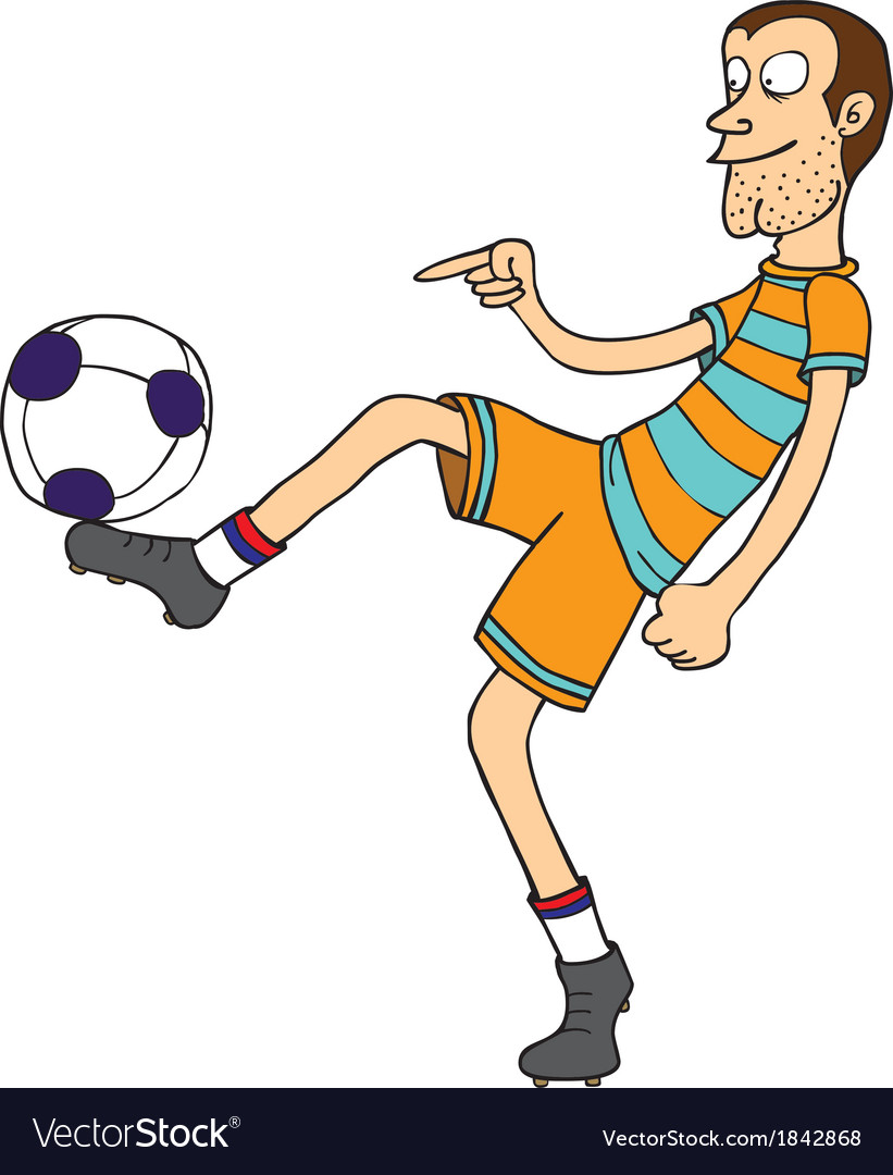 Football player cartoon vector | Price: 1 Credit (USD $1)