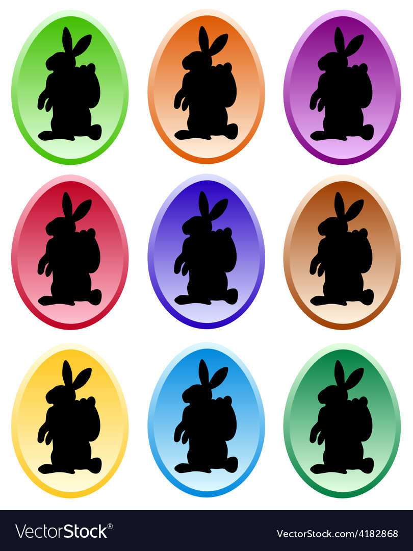 Gradient colored easter eggs vector | Price: 1 Credit (USD $1)