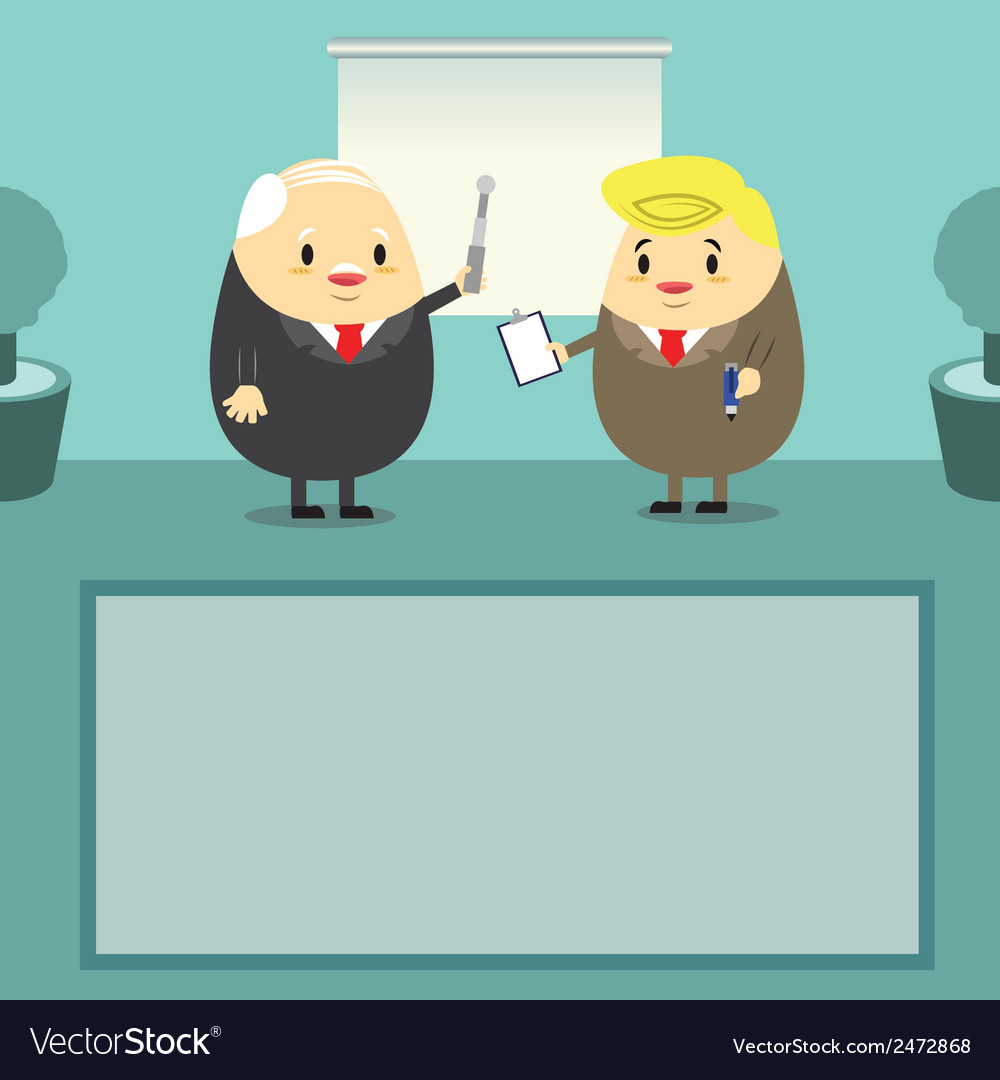 Job present boss time vector | Price: 1 Credit (USD $1)