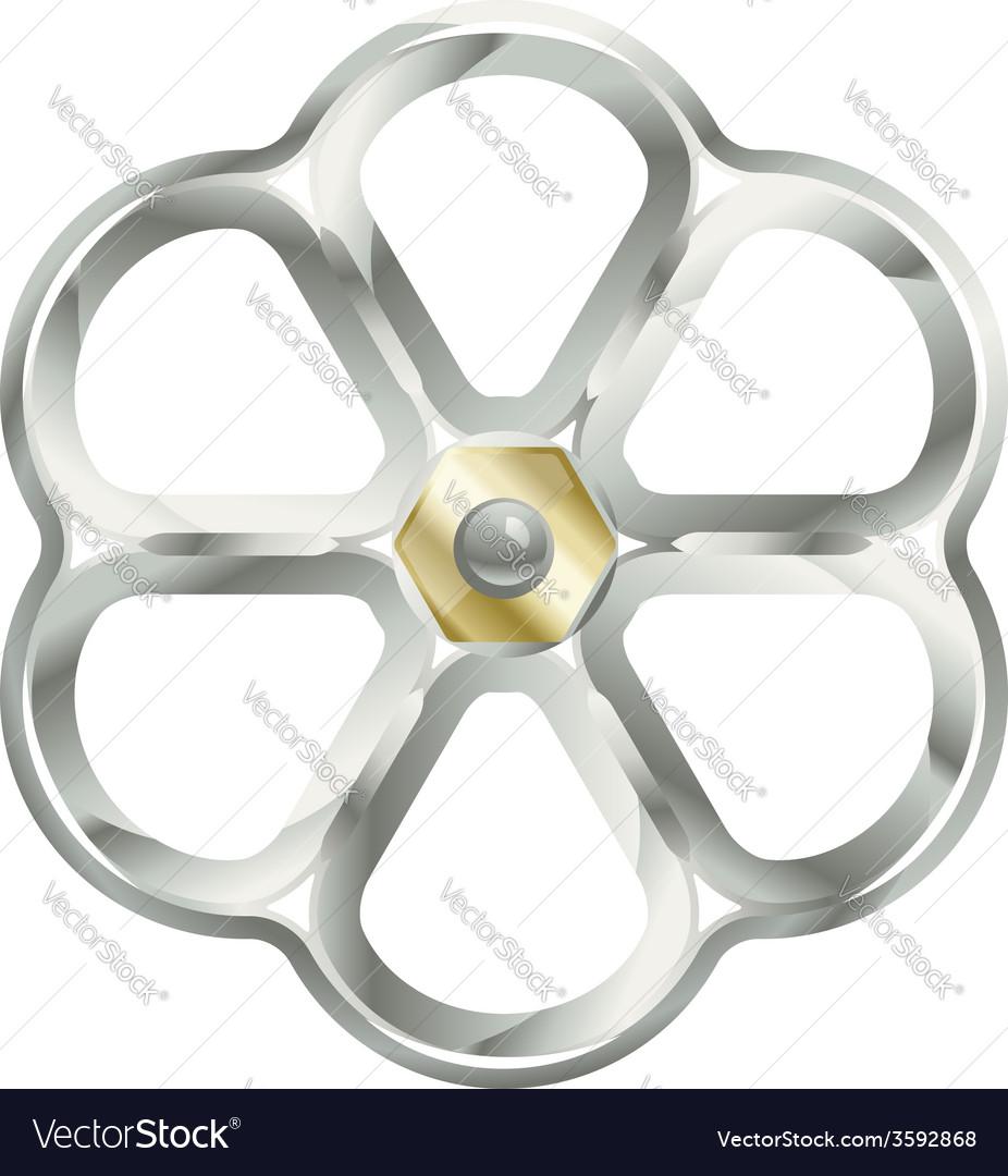 Metallic valve vector | Price: 1 Credit (USD $1)
