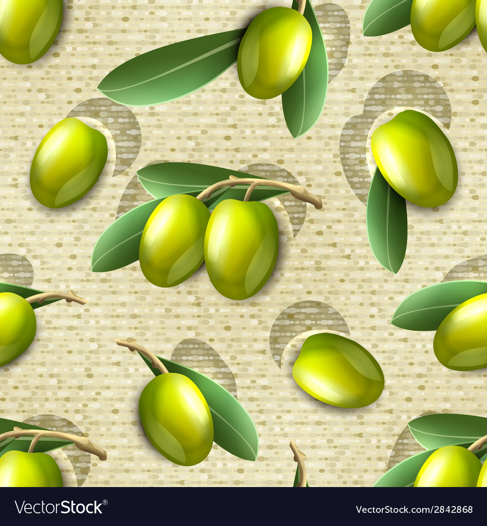 Olive seamless pattern vector | Price: 1 Credit (USD $1)