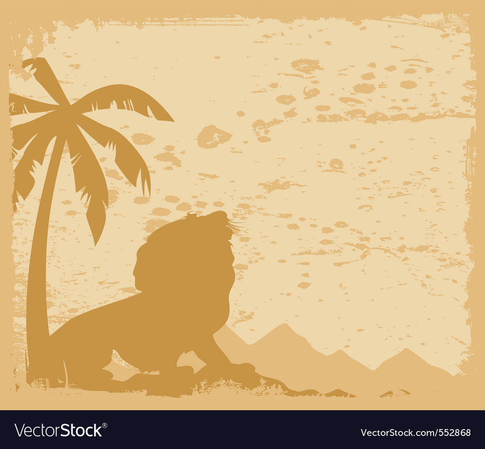 Rowls under a palm tree a vector illustratio vector | Price: 1 Credit (USD $1)